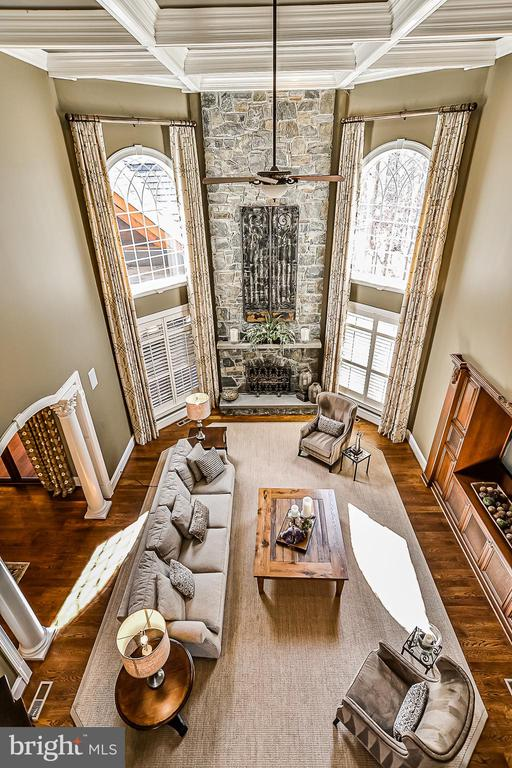 Overlooking Family  Room from Upper Level. Wow! - 2555 VALE RIDGE CT, OAKTON
