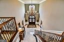 Foyer from above landing - 2555 VALE RIDGE CT, OAKTON
