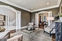 Living Room with Lovely Architectural Elements - 2555 VALE RIDGE CT, OAKTON
