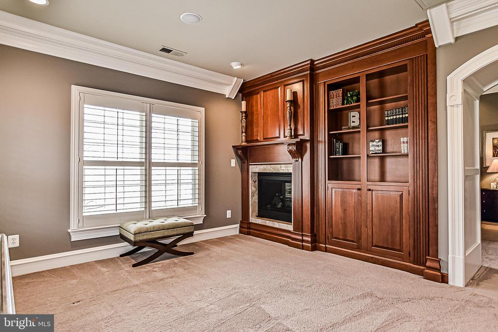 MBdrm Sitting Rm w/ Built-ins & dbl-sided Gas Fpl - 2555 VALE RIDGE CT, OAKTON