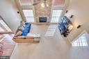 Looking down into the Great Room - 509 RUBENS CIR, MARTINSBURG