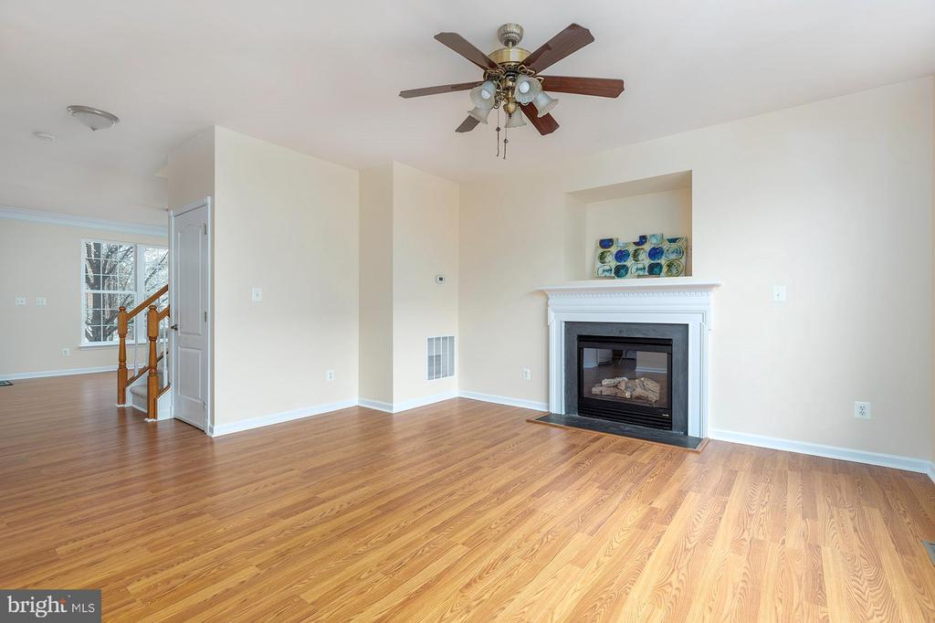 Family Room with Fireplace and TV nook - 42571 PELICAN DR, CHANTILLY