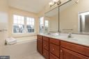 Master Bath with Double Vanities - 42571 PELICAN DR, CHANTILLY