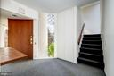 Entry area, stairs to living room - 5500 BROAD BRANCH RD NW, WASHINGTON