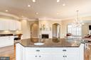 Kitchen with Large Center Island - 18777 UPPER MEADOW DR, LEESBURG