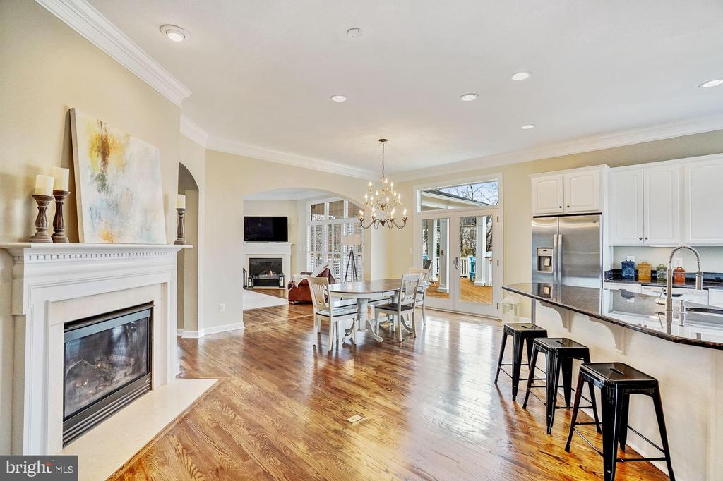 Large Open Kitchen w/ Fireplace - 18777 UPPER MEADOW DR, LEESBURG