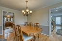 Formal dining room with view to kitchen & foyer - 102 NORTHAMPTON BLVD, STAFFORD