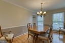 Formal dining room - 102 NORTHAMPTON BLVD, STAFFORD