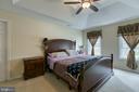 Master bedroom with trey ceilings - 102 NORTHAMPTON BLVD, STAFFORD