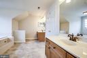 Master Bath with Dual Vanities - 11617 DUCHESS DR, FREDERICKSBURG