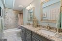 Renovated Full Bathroom - Upper Level - 201 STONELEDGE PL NE, LEESBURG