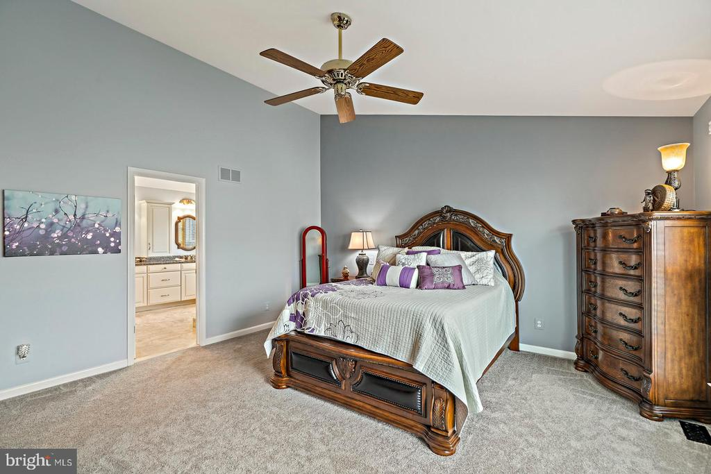 Owners Bedroom with Cathedral Ceiling - 201 STONELEDGE PL NE, LEESBURG