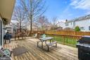 Large Deck in Backyard - 201 STONELEDGE PL NE, LEESBURG