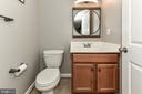 Half bath in basement with shower rough-ins - 25974 KIMBERLY ROSE DR, CHANTILLY