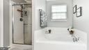Soaking tub and stand-up shower in master bath! - 25974 KIMBERLY ROSE DR, CHANTILLY