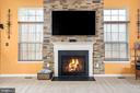 Stone fireplace in family room - 31 LIBERTY KNOLLS DR, STAFFORD