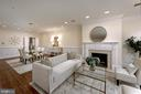 A handsome mantel surrounds the gas fireplace - 19 WILKES ST, ALEXANDRIA