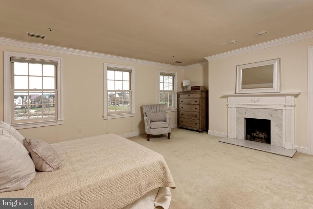 A gas fireplace warms this sizable master suite - 19 WILKES ST, ALEXANDRIA
