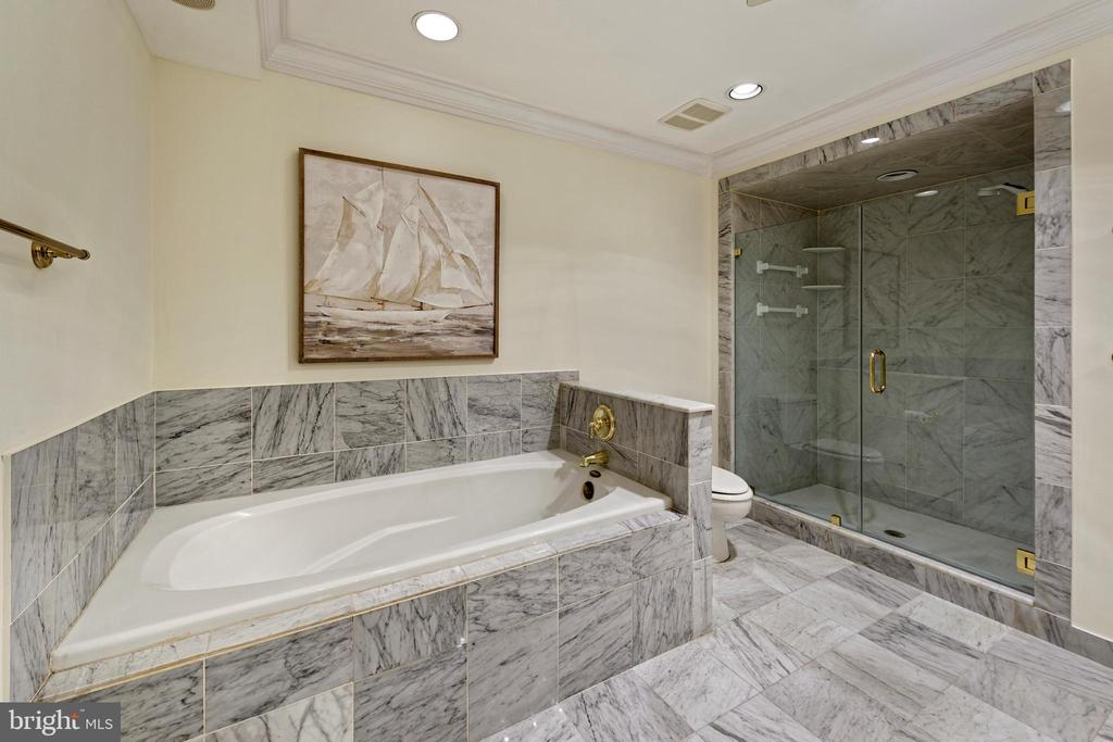 Jacuzzi bathtub with marble surround to unwind in - 19 WILKES ST, ALEXANDRIA