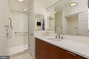 An updated bathroom w/ seamless glass shower door - 19 WILKES ST, ALEXANDRIA