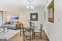 Living Room and Dining Area - 4808 MOORLAND LN #503, BETHESDA