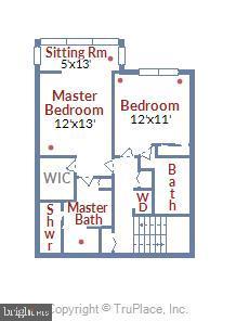 Upper Level Floor Plan - 2111 WISCONSIN AVE NW #PH7, WASHINGTON