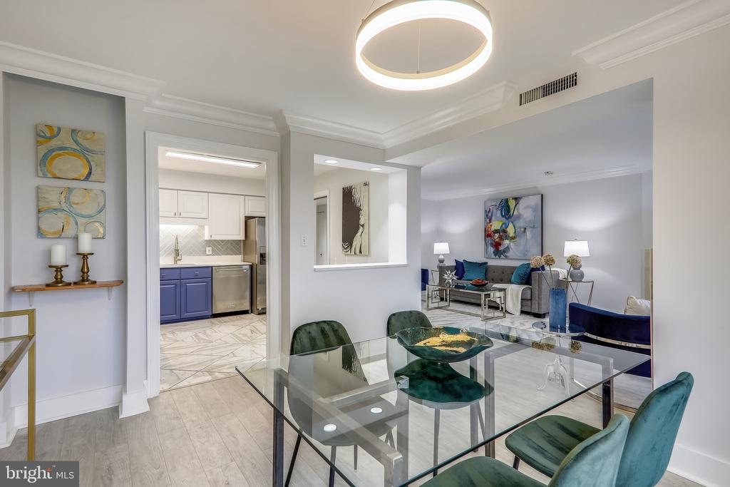 Open Floorpan to Dining and Living Room - 2111 WISCONSIN AVE NW #PH7, WASHINGTON