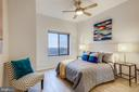 Second Bedroom with Ceiling Fan & Views - 2111 WISCONSIN AVE NW #PH7, WASHINGTON