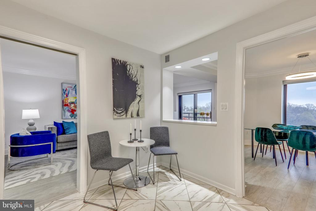 Opened to Dining & Living Areas - 2111 WISCONSIN AVE NW #PH7, WASHINGTON