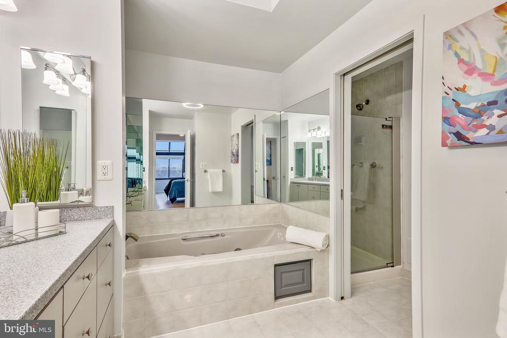 Master Bath with Soaking Tub and Separate Shower - 2111 WISCONSIN AVE NW #PH7, WASHINGTON