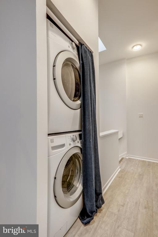 Newer Stackable Laundry on Second Floor - 2111 WISCONSIN AVE NW #PH7, WASHINGTON