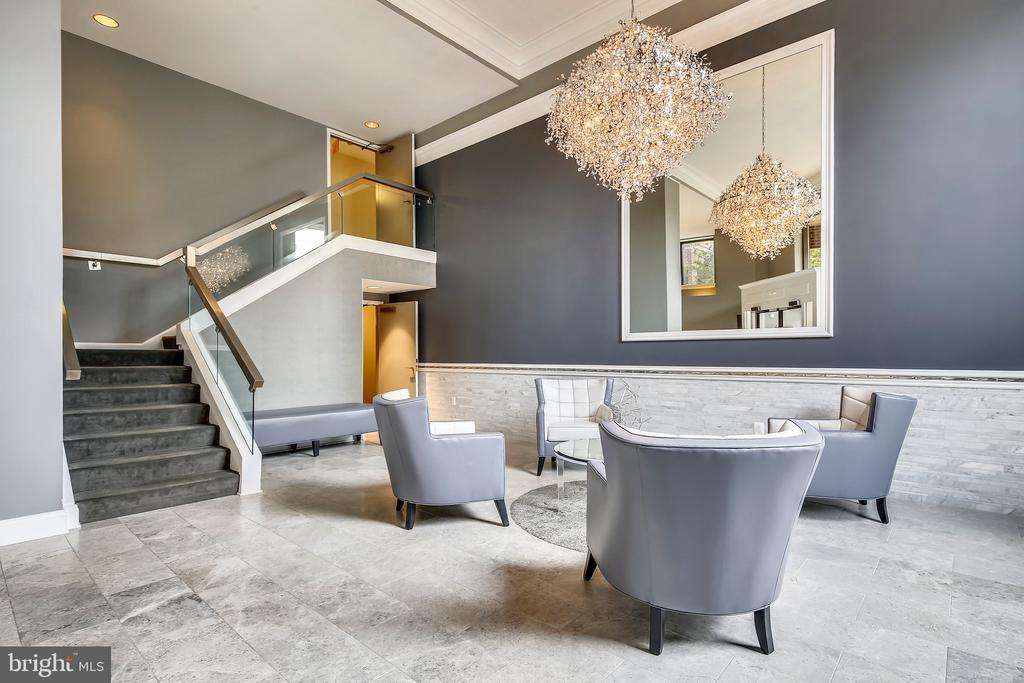 Welcoming Lobby at The Observatory - 2111 WISCONSIN AVE NW #PH7, WASHINGTON