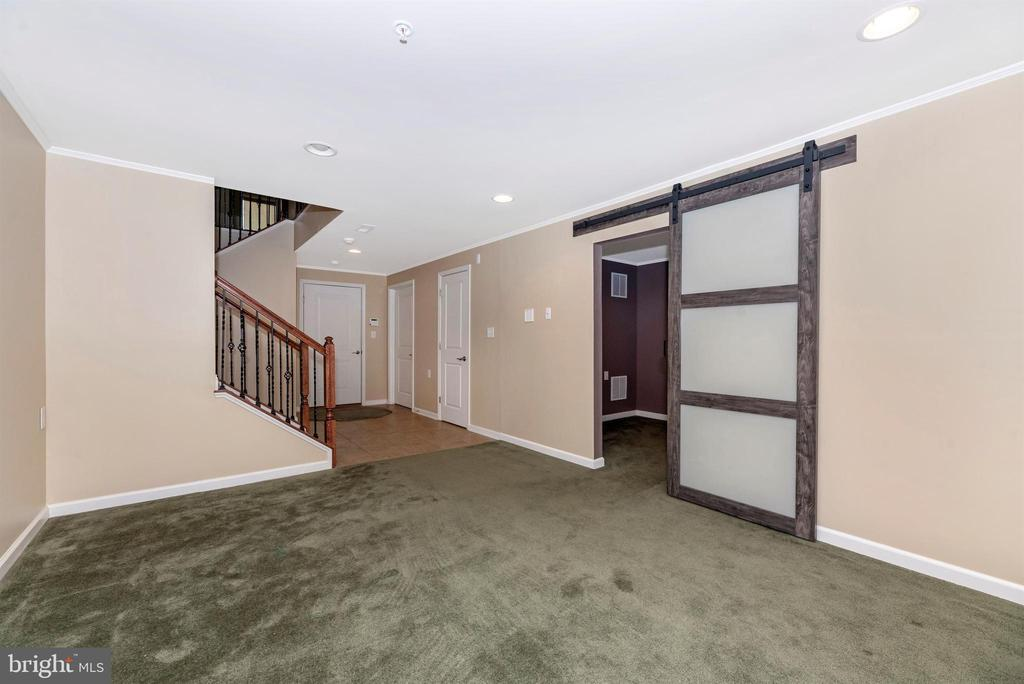Lower level - good use of single pass barn door - 6961 COUNTRY CLUB TER, NEW MARKET