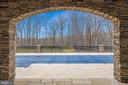 Patio with View to Pool and Backyard - 10403 TREATY CT, SPOTSYLVANIA