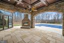 Patio with Fireplace - 10403 TREATY CT, SPOTSYLVANIA