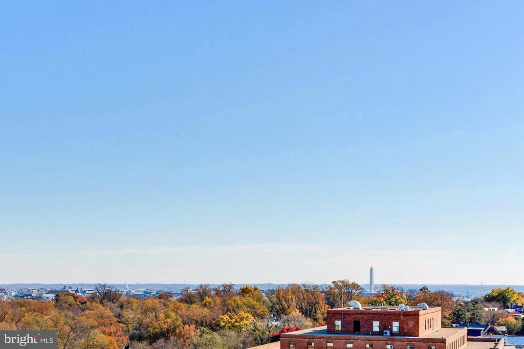 Monument and Capitol Views from Balcony - 2111 WISCONSIN AVE NW #PH7, WASHINGTON