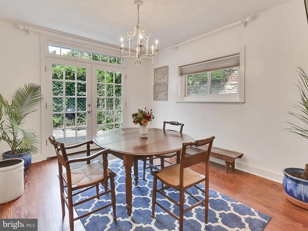 Enter your private patio from your breakfast rm. - 121 W 2ND ST, FREDERICK