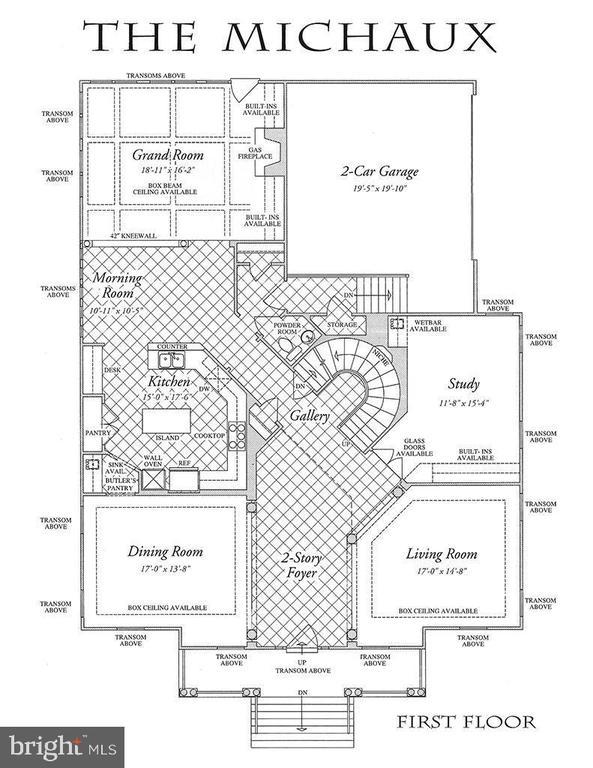 First Floor Plan- Hardwood Floor - 2976 TROUSSEAU LN, OAKTON