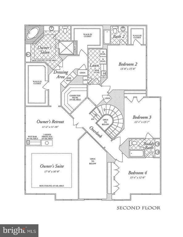 2nd Floor Plan-Hardwood Floor - 2976 TROUSSEAU LN, OAKTON