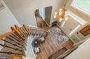 Sweeping Front Staircase with newer railing - 20226 BROAD RUN DR, STERLING