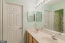 Jack & Jill bathroom vanity - 20226 BROAD RUN DR, STERLING