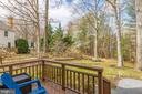 Deck off of family room - 8206 CHERRY RIDGE RD, FAIRFAX STATION