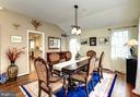 Formal Dining Area is Bright with High Ceilings - 8902 TRANSUE DR, BETHESDA
