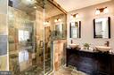 Bath Features Steam Shower and Dual Vanities - 8902 TRANSUE DR, BETHESDA