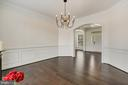 Enter to elegant dining w/ farmhouse chandelier. - 43988 RIVERPOINT DR, LEESBURG