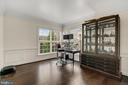 Private office boasts elegant molding & green view - 43988 RIVERPOINT DR, LEESBURG