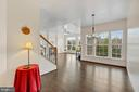 Foyer opens into dining, family w deck views. - 43988 RIVERPOINT DR, LEESBURG
