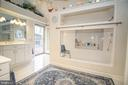 Main Level Master Bathroom with Walk-In Spa Shower - 25282 KENNEBEC DR, CHANTILLY