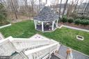 Fenced, Back Yard with Private Gazebo - 25282 KENNEBEC DR, CHANTILLY