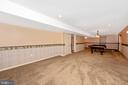 Lower level family room - 2505 UNDERWOOD LN, ADAMSTOWN